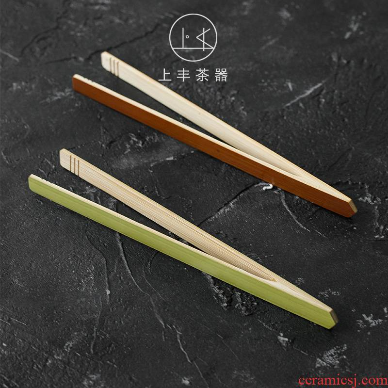 An Abundant bamboo antiskid groove ChaGa tea taking prevent hot clip bamboo tweezers simple tea set new large bamboo clip