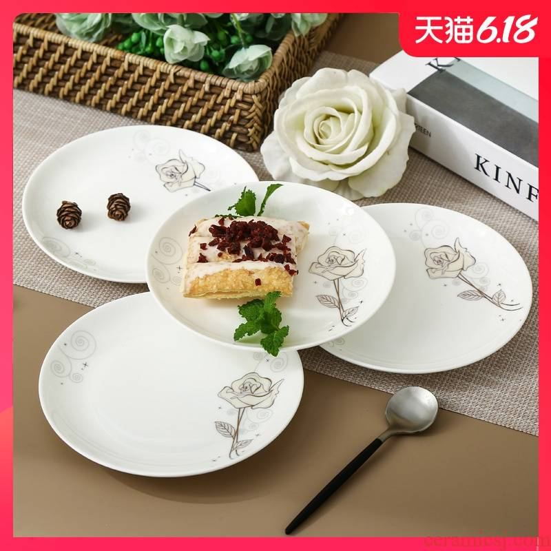 Garland ipads porcelain household ipads plate to spit the ipads plate creative round western dessert cake pan ceramic small dishes