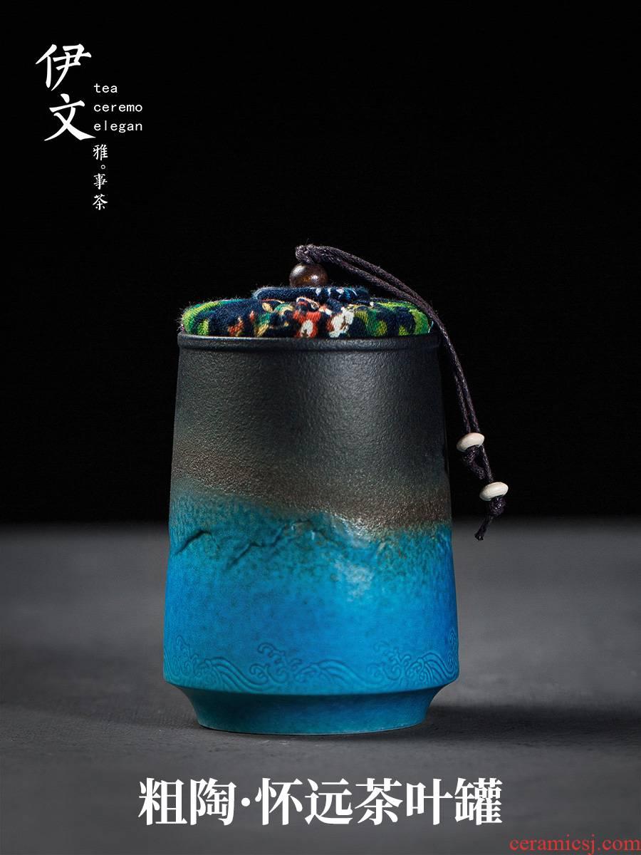 Evan ceramic tea pot seal pot small POTS of household receives moistureproof tea storage warehouse pu 'er tea pot