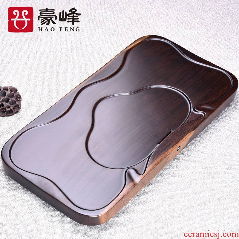 HaoFeng whole atmosphere ebony wood tea tray sheet tea sea tea saucer