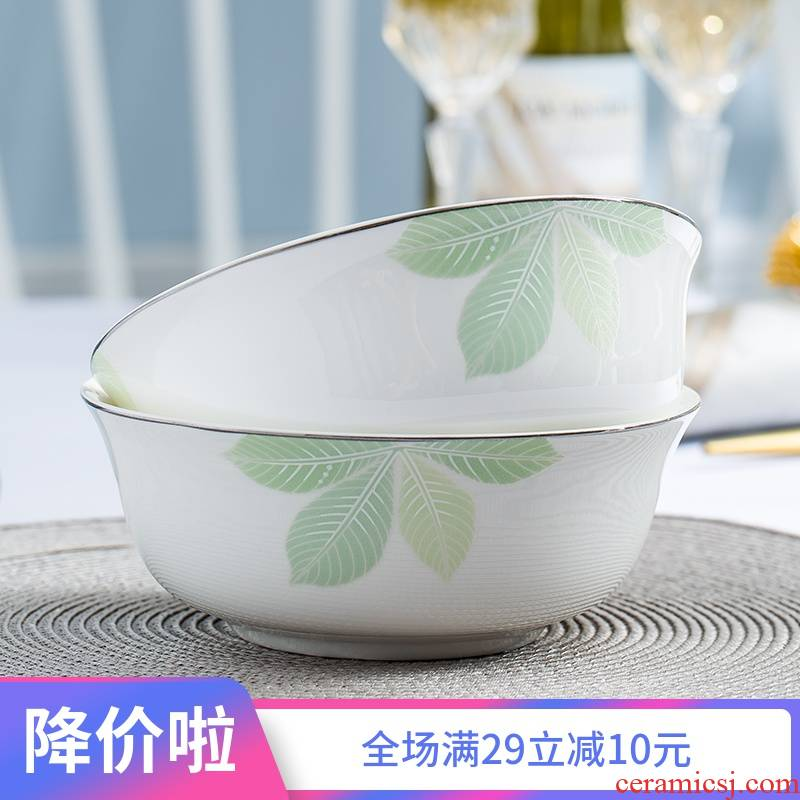 Jingdezhen ceramic bowl home eat rice bowl ipads China rainbow such as bowl bowl bowl of small bowl of rice bowl chopsticks tableware of Chinese style