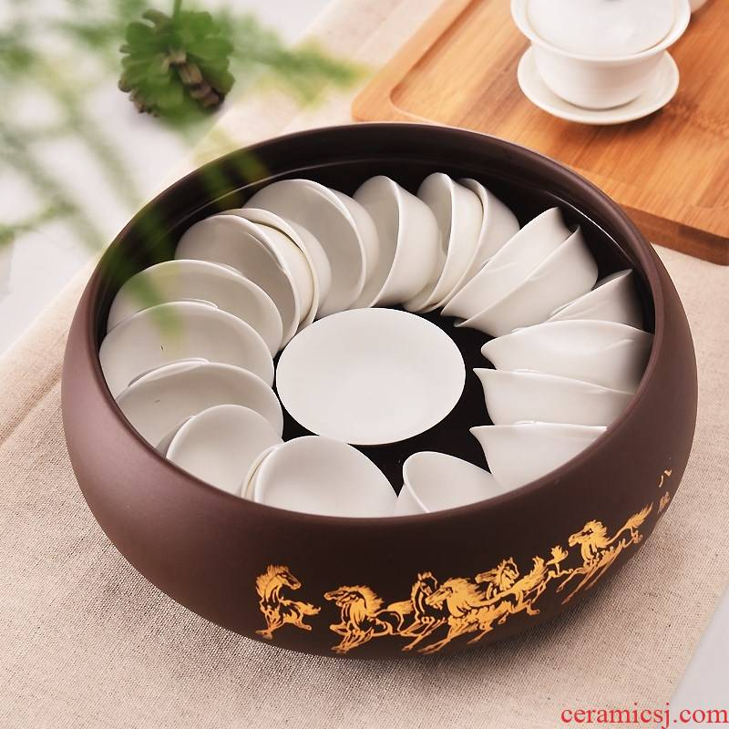 Purple sand tea wash to kung fu tea accessories for wash washing bowl cups water jar writing brush washer ashtray hydroponic flower pot