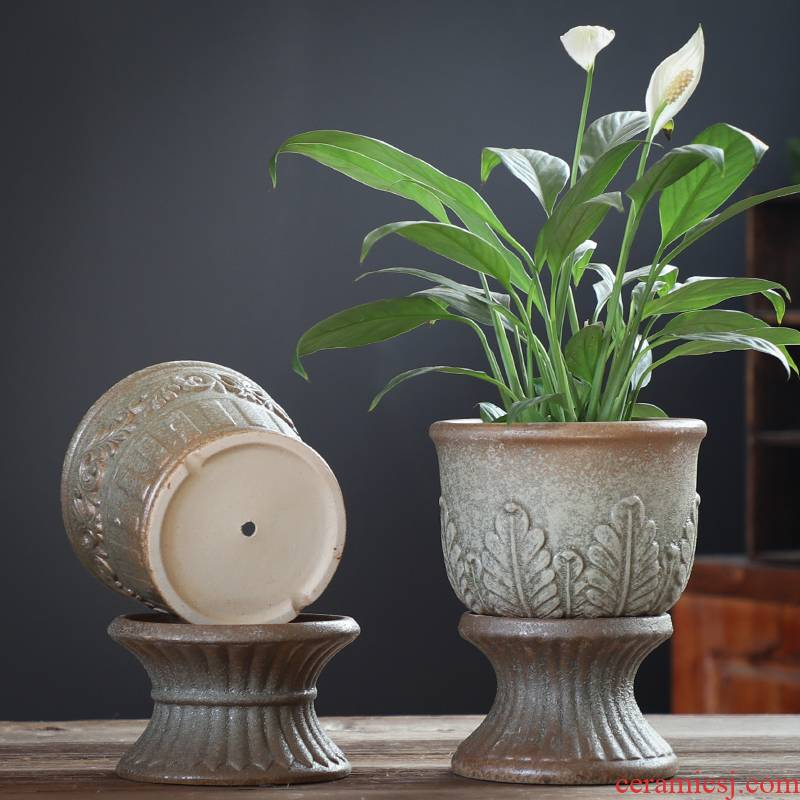 Lazy flowerpot ceramic sale package mail large clearance of creative move other butterfly orchid tree fleshy flower pot