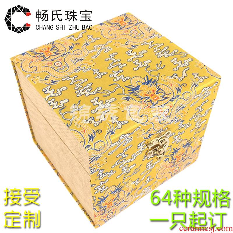 Wooden JinHe custom porcelain collectables - autograph the penjing collection packing box large gift gift box package of mail