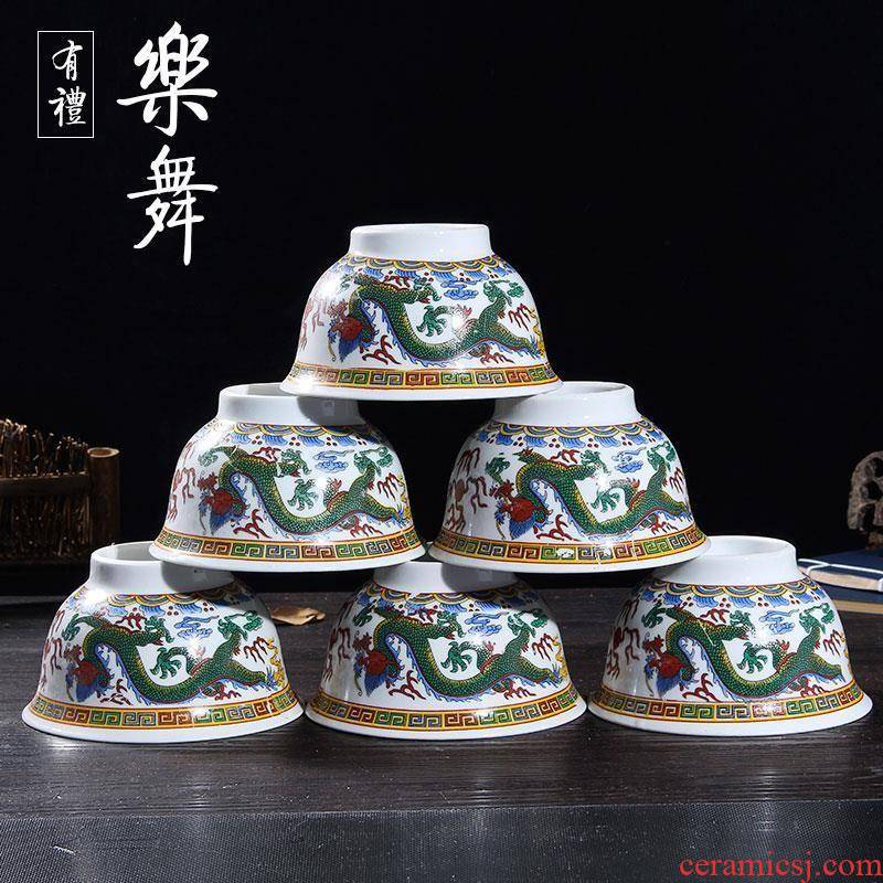 Characteristics of dragon bowl bowl of Mongolia sect special Inner Mongolia Mongolian ethnic wind prop milk tea bowls on the design