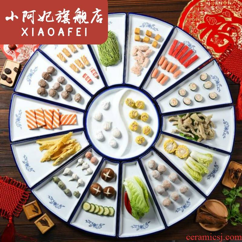 . The Food dish restaurants with Food dish combination new people home plate banquet tableware bowls dinner plate covered 11 times