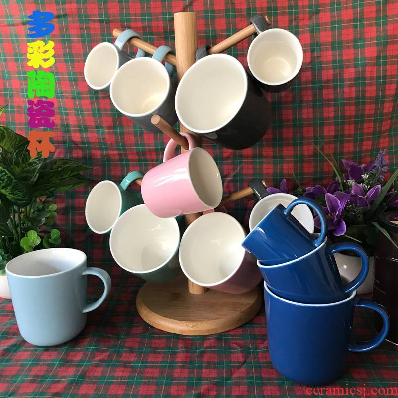 Lovely ceramic keller cup water medium capacity children take small mini cups of coffee cup