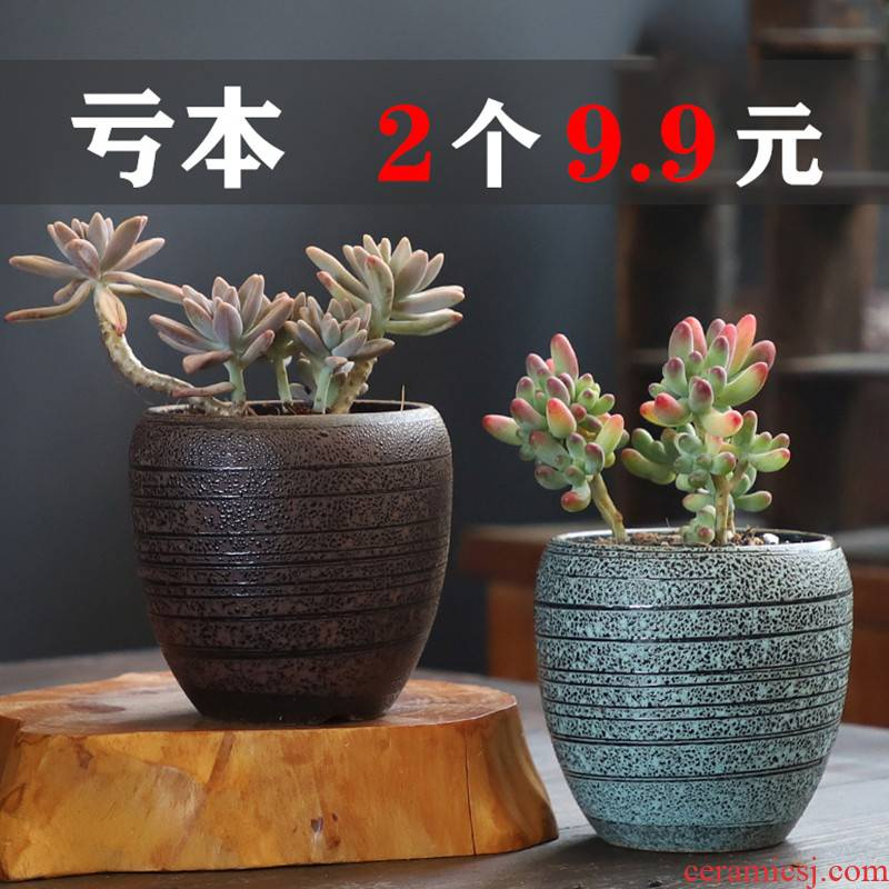 Restoring ancient ways more coarse pottery flowerpot ceramic more meat the plants biscuit firing violet arenaceous creative size diameter contracted special offer a clearance