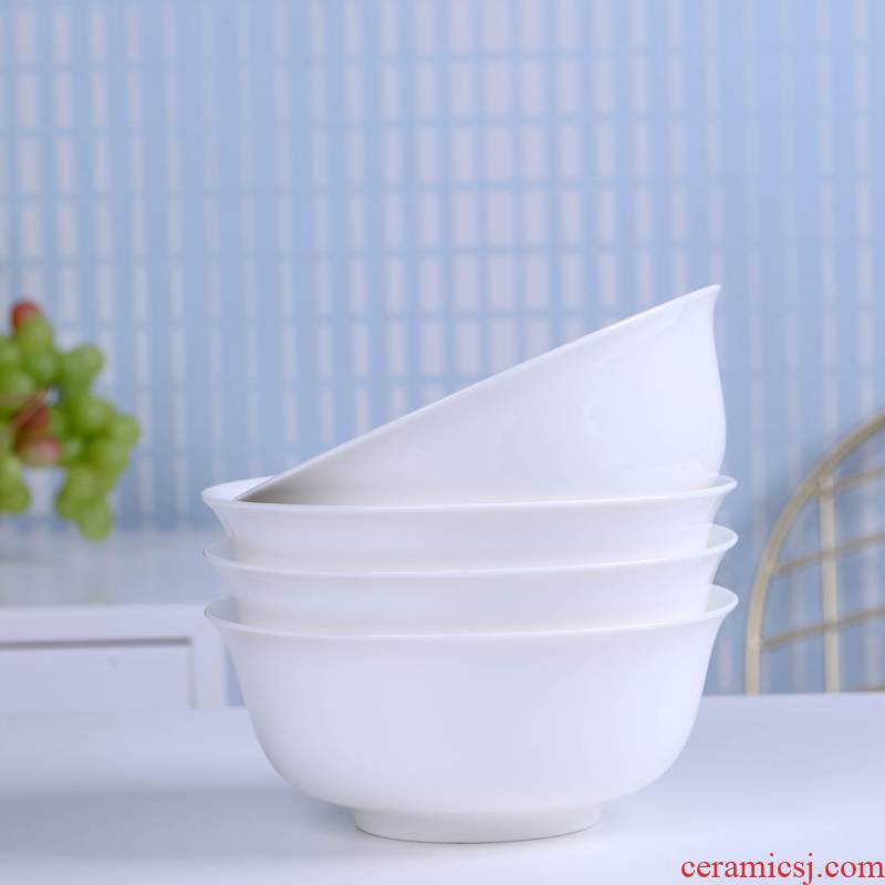 Jingdezhen ceramic rainbow such use white household utensils to eat a single large bowls of rice bowl noodles bowl of soup bowl bowl