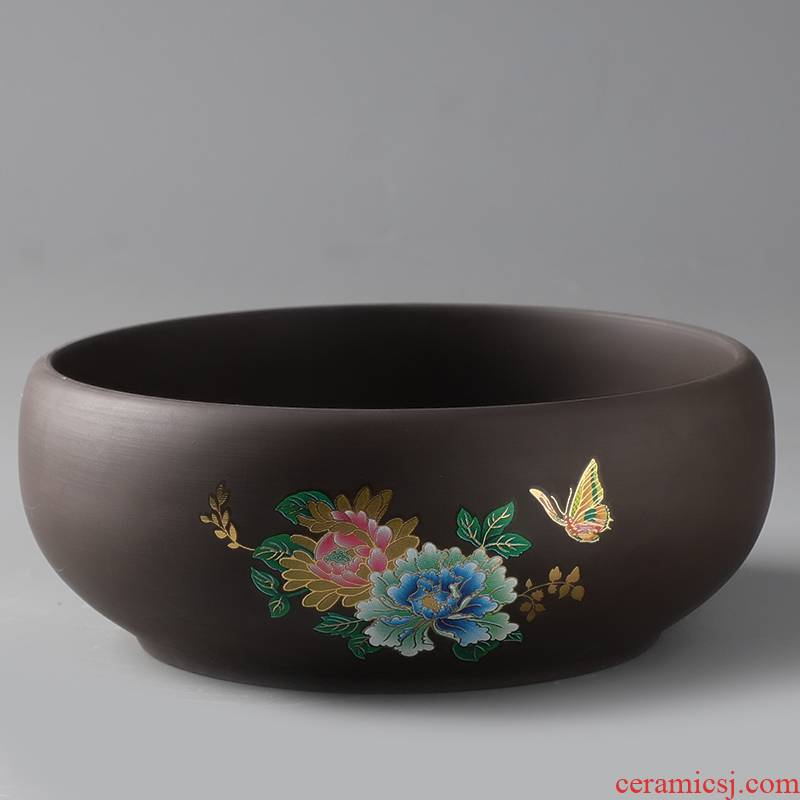 Refers to flower pot ceramic creative move hydroponic copper bowl lotus pond lily money grass grass withered lotus large - sized specials