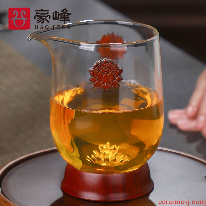 HaoFeng justice cup thickening heat - resistant transparent glass tea and Japanese points tea is tea silver sea tea cup