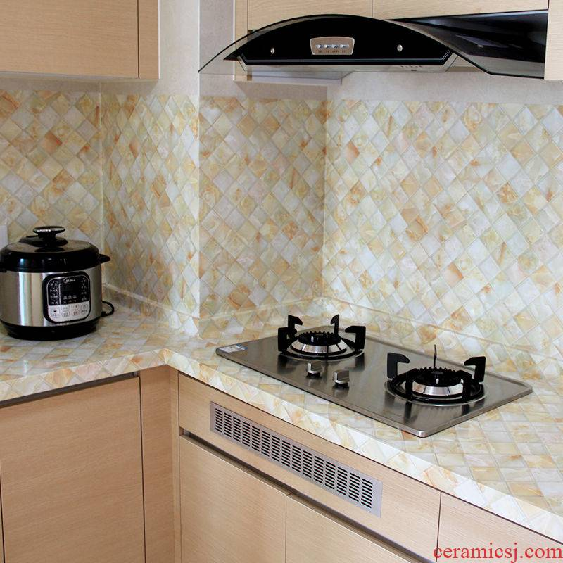 Oil becomes marble tile stick the kitchen stove surface waterproof bathroom cabinet furniture renovation which wallpaper adhesive