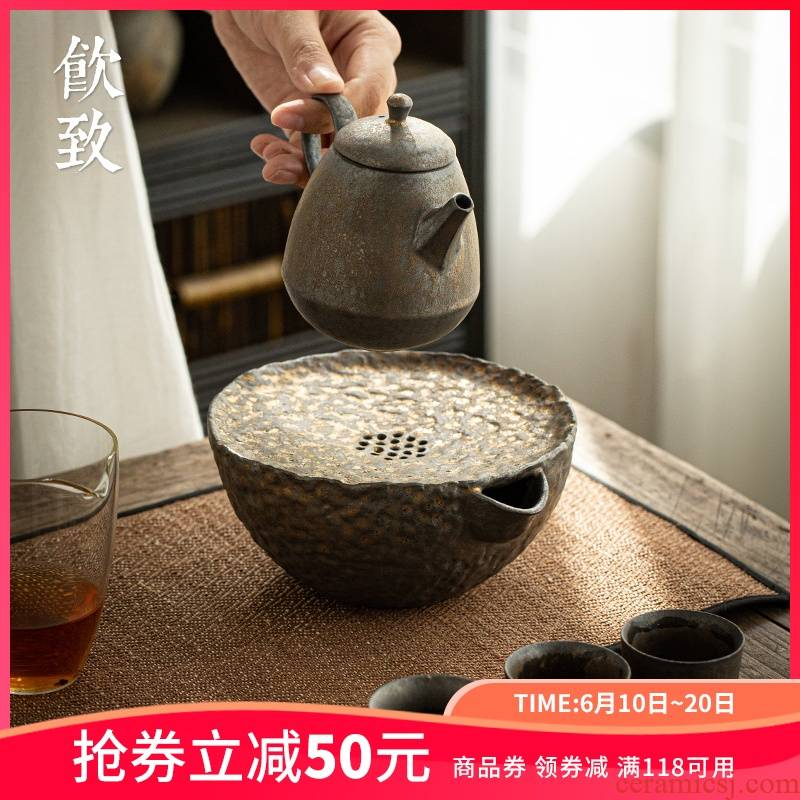 Ultimately responds to gold iron glaze ceramic pot of 12 water type restoring ancient ways doing mercifully machine have kung fu tea tea pot pad teapot