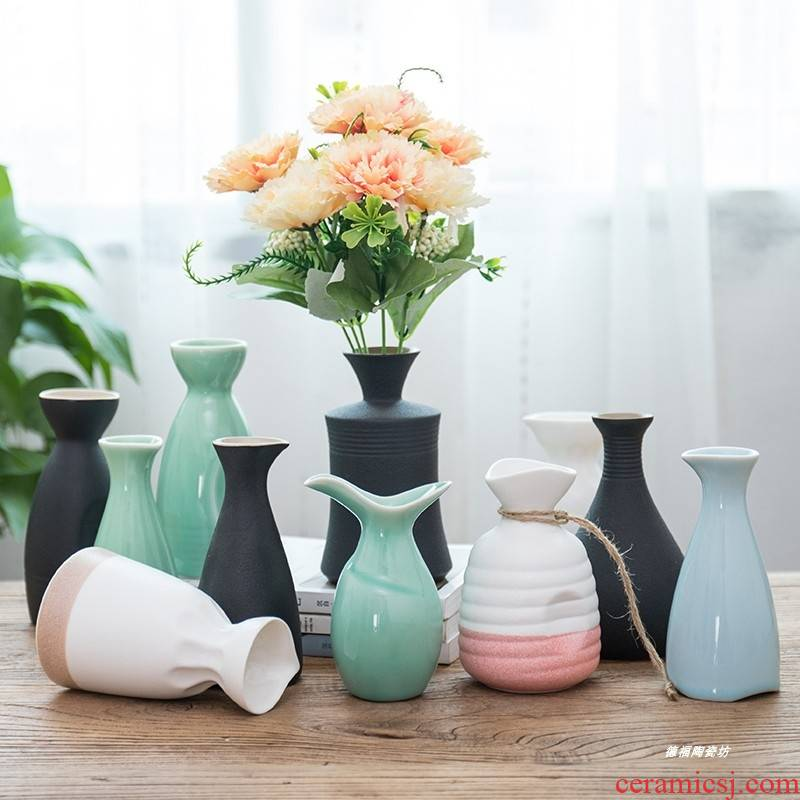Coarse pottery wine liquor hip flask to both of empty wine bottles three points half jins jars Japanese household decorative bottle furnishing articles