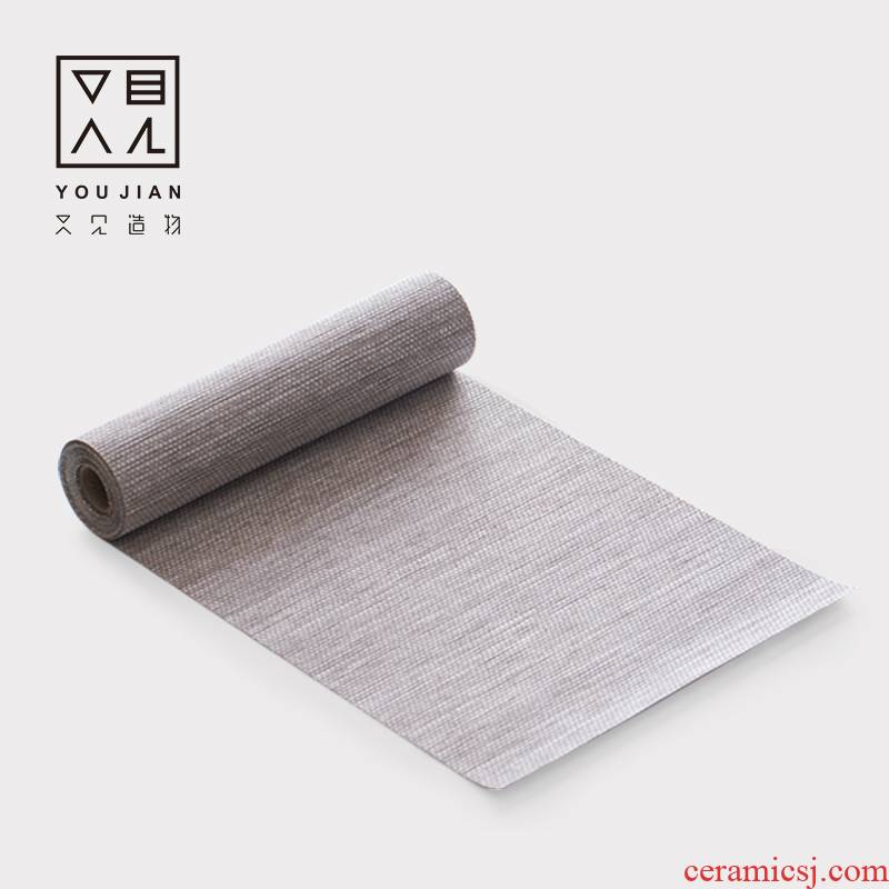 And creation of tea table table flag Japanese manual contracted tea table MATS waterproof zen tablecloth tea accessories with zero
