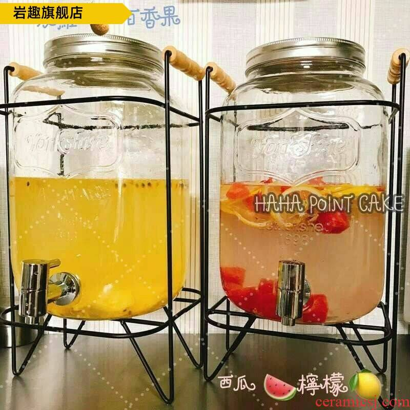 With cold tap switch on the kettle high temperature resistant ltd. glass juice ding beverage bottle beer barrel mercifully explosion