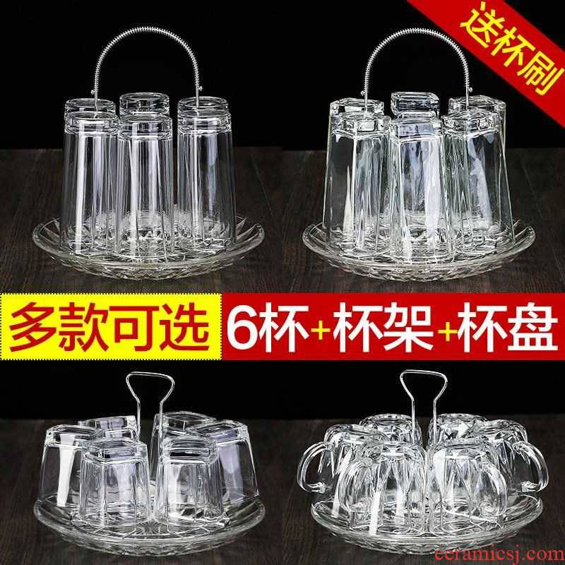 Transparent anise water cup six home outfit fresh hot female express simple glass tea cup