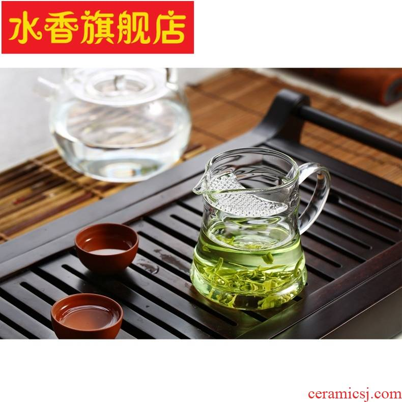 More heat - resistant glass filter points tea fair crescent cups of green tea tea tea cup cup leakage one office