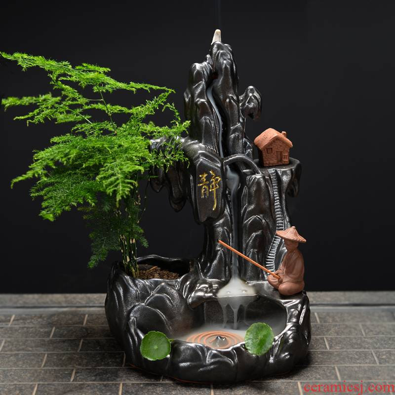 Bush jue purple mountain stream back censer creative furnishing articles zen tea joss stick - ta home fragrance furnace tower