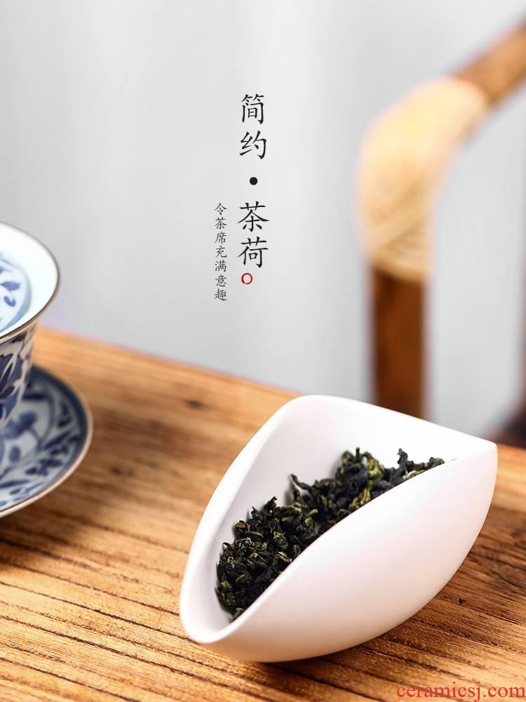 Ken shun ke ceramic tea is pure manual Japanese tea holder wake up tea tea accessories points with zero plant ash glaze tea set