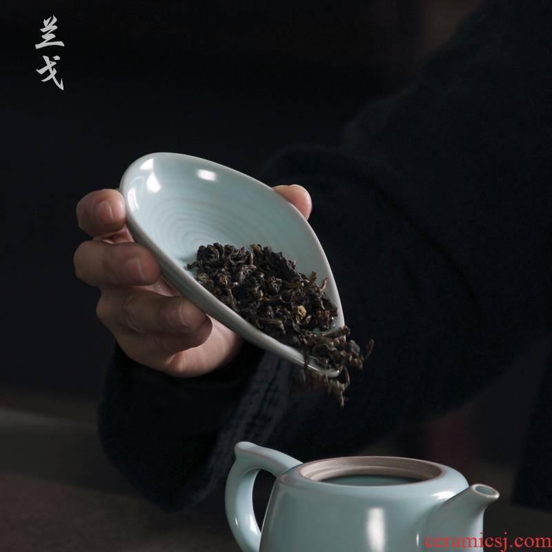 Having the azure your up tea holder your porcelain tea accessories kung fu tea set household ceramic tea tea tool