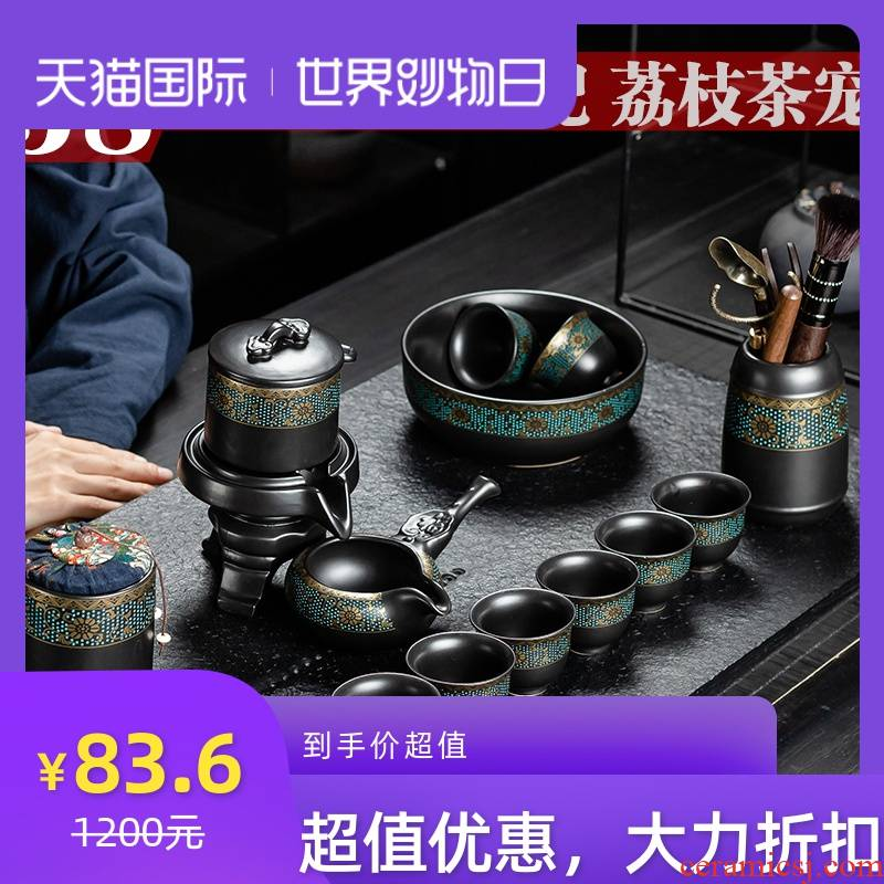 Not autumn tea suit household contracted office receives a visitor restoring ancient ways of a complete set of kung fu ceramic tea cup