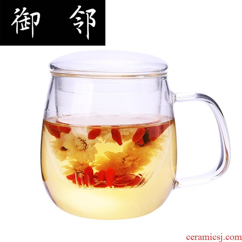 Creative fashion heat - resistant household belt thickening with cover the tea cups tea cup filter office glass cup to ultimately responds