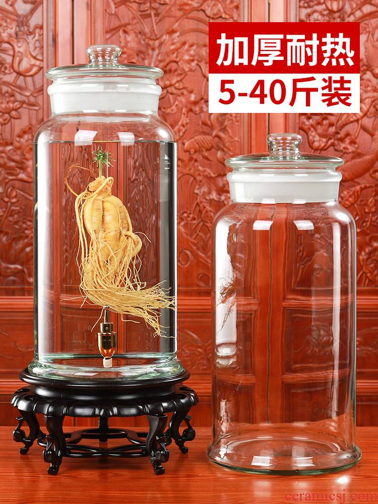 Scene ruyi home wine bottle 10 jins jars with tap 20 high - grade large capacity to special medicated wine bottle