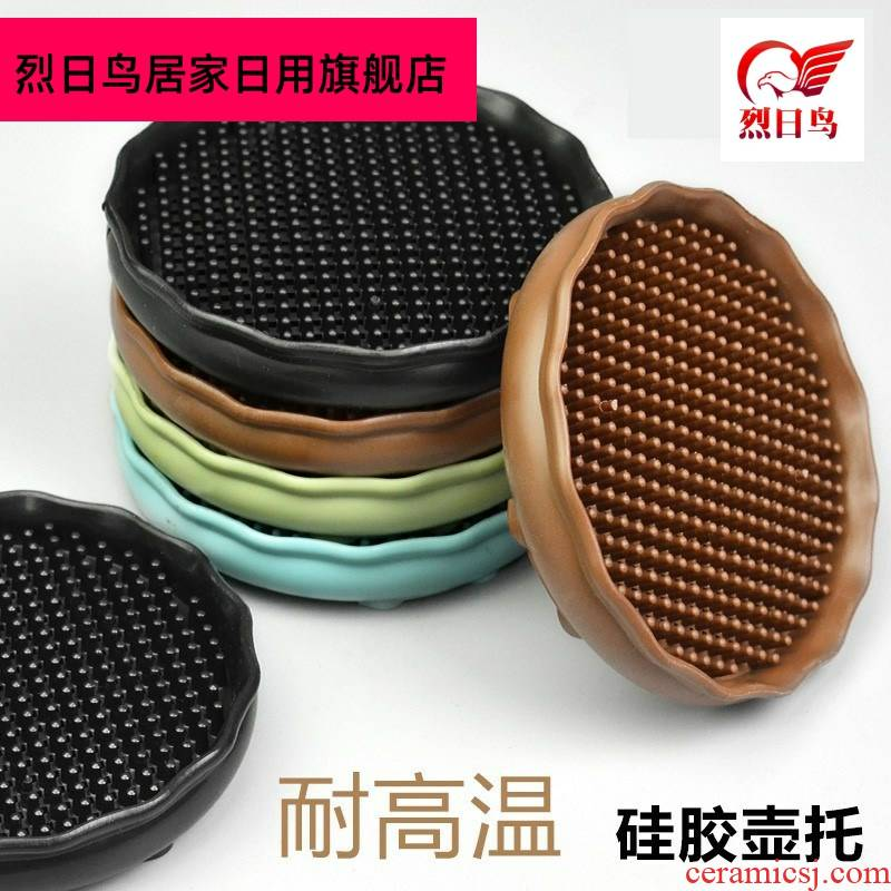 Mat to hold of soft rubber non - slip silicone dining table Mat anti hot teapot creative cup pad kitchen household heat insulation cup Mat