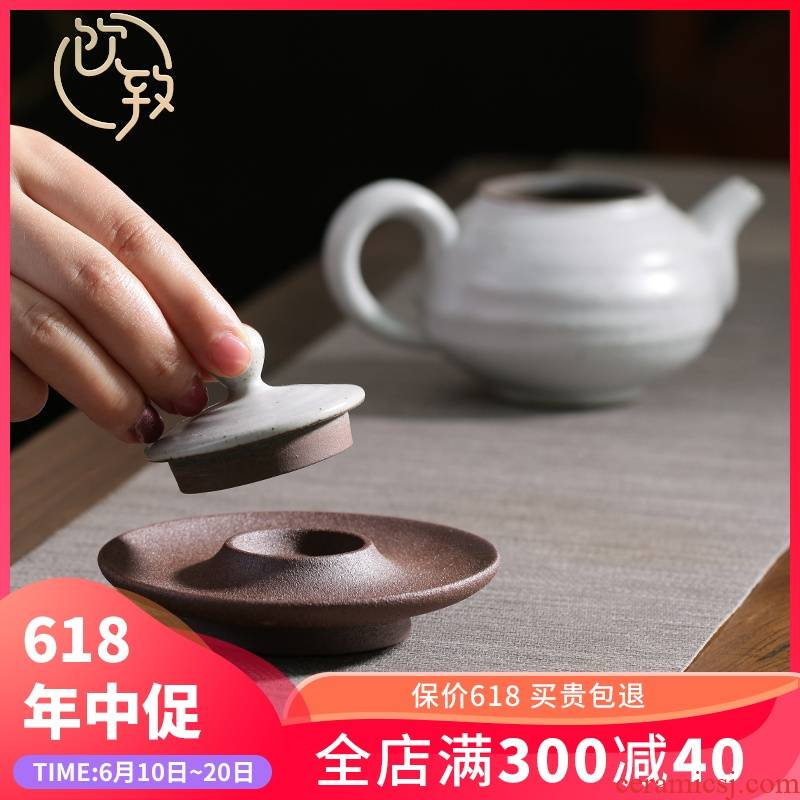 Ultimately responds to coarse after getting cover rear violet arenaceous lid doesn cover bearing Japanese tea accessories zero match tureen lid holder frame