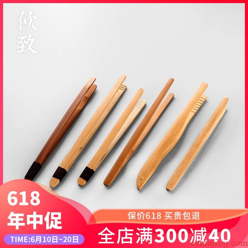 Ultimately responds to checking out bamboo qualitative clincher bamboo cups of tea set tea tweezers single tea set zero with six gentleman 's real wood