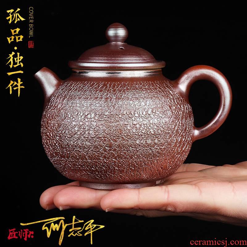 Artisan fairy orphan works hand made burst to burn pot of single pot of kung fu tea set household ceramic pot teapot restoring ancient ways