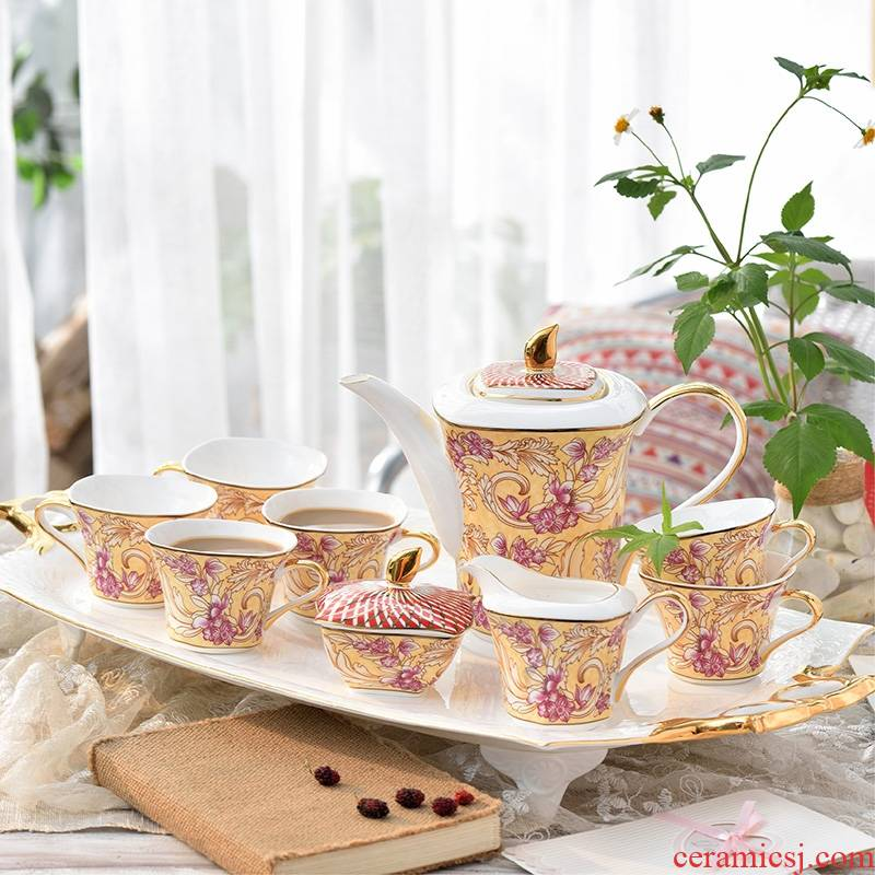Hk xin rui European ipads China coffee set suit English afternoon tea camellia whole household wedding gift box