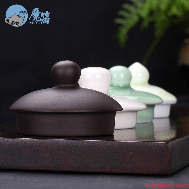 The flute with ceramic teapot lid cover parts with zero galate a small cap lid violet arenaceous your up celadon double