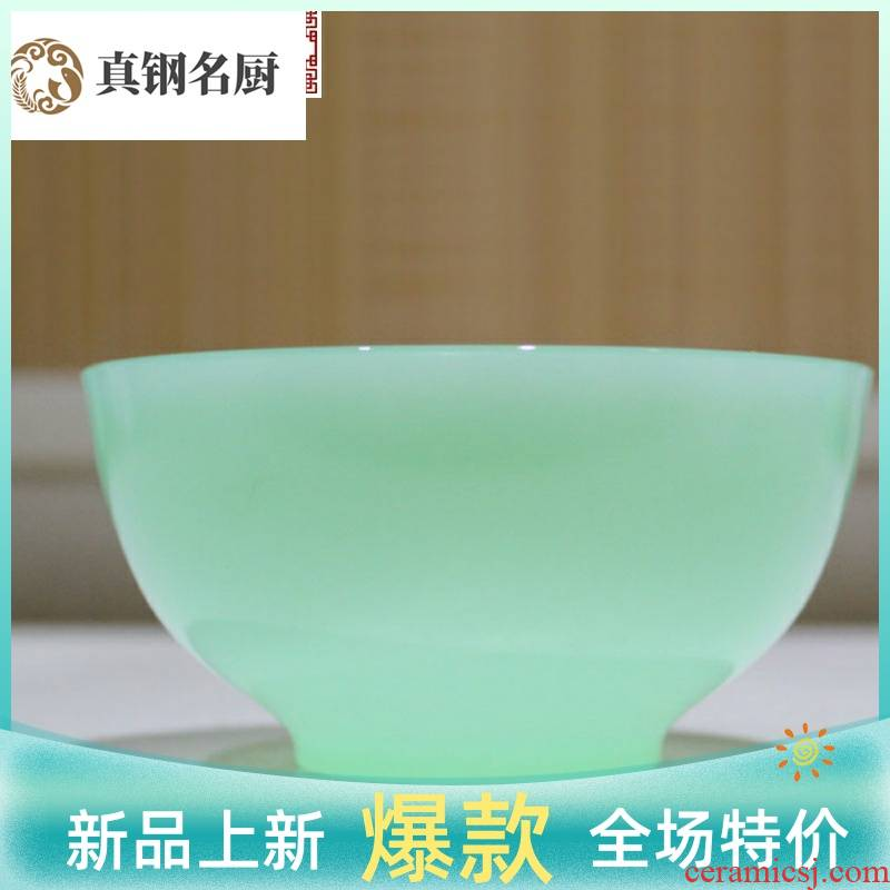 Small glass jade and jade bowl bowl high - grade rice bowls of the jade bowls household individuality rice bowls