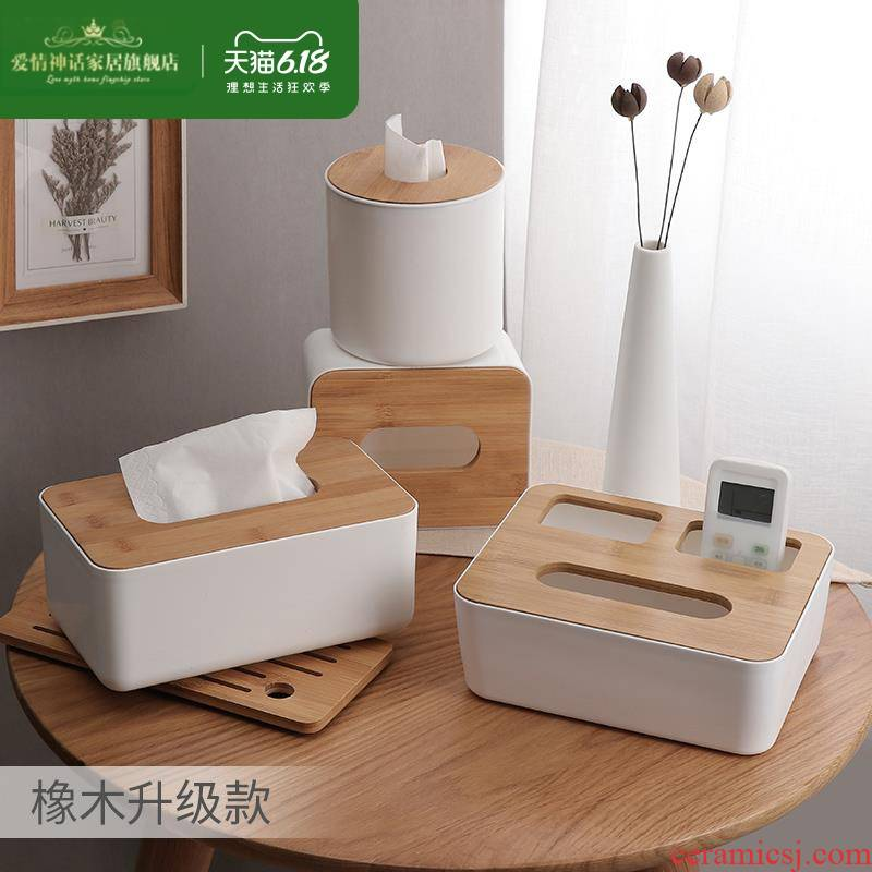Toilet smoke box office tea table with a desktop move square Nordic breeze restaurant multi - function paper box