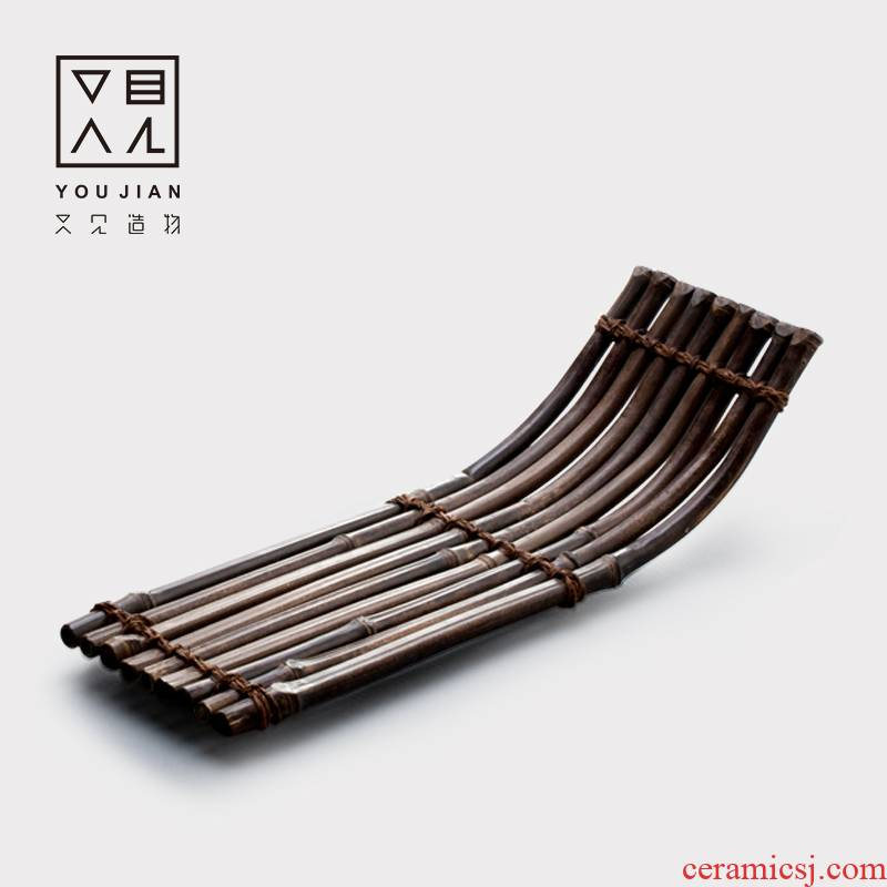 And creation of bamboo mat bamboo raft pot cup mat creative insulation prevent hot bamboo kung fu tea set the cup pad accessories with zero