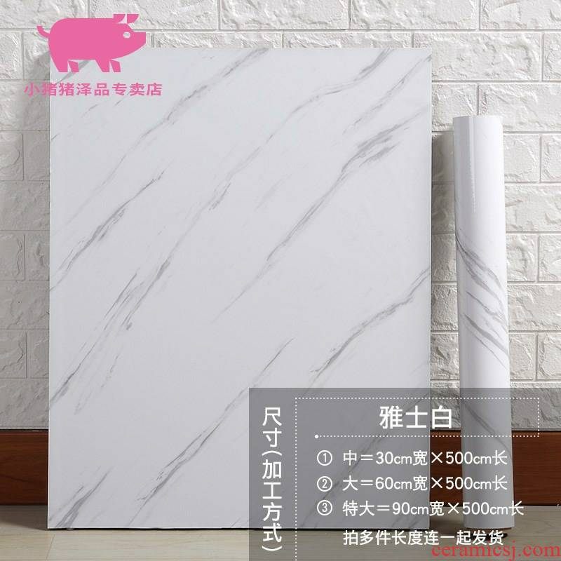 Imitation marble stickers toilet waterproof tile kitchen hearth table with cabinet renovation background which wallpaper adhesive.