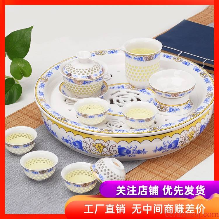 Tea set household contracted and I Chinese style of a complete set of porcelain of jingdezhen ceramic teapot teacup kung fu Tea tray