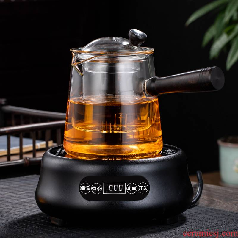 Steam cooking kettle side of high temperature resistant glass to burn white tea special electric TaoLu boiled tea, the teapot suit curing pot