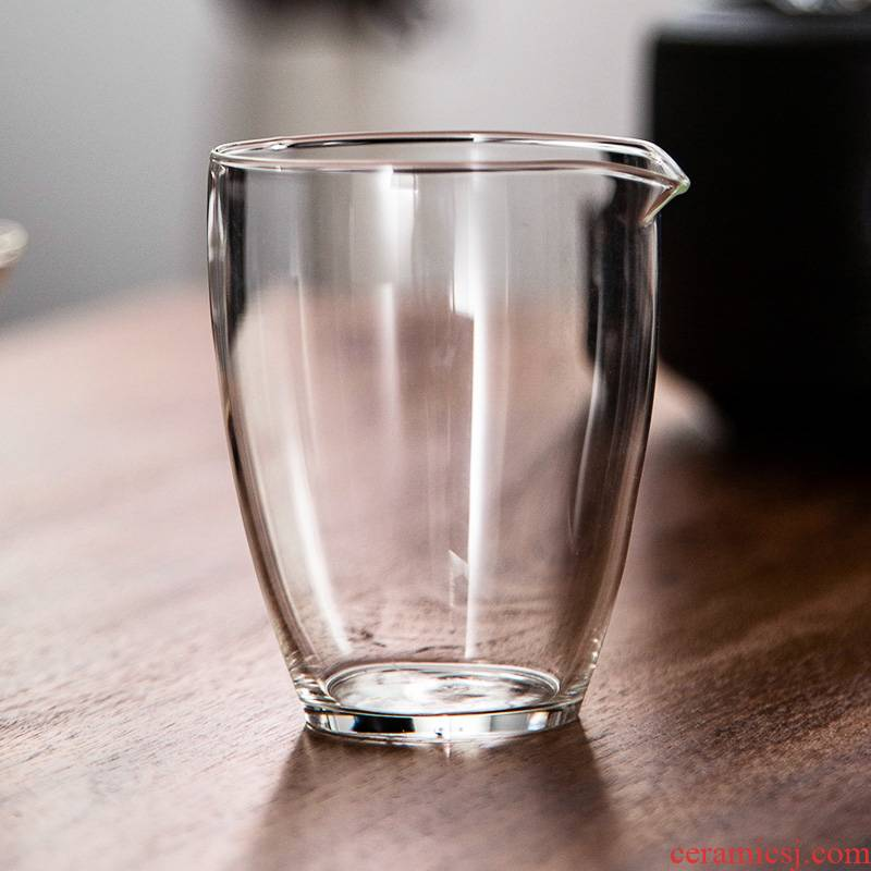 The Heat - resistant fair transparent glass cups of tea sea points number of tea ware kung fu tea sets of household filter) thick bottom