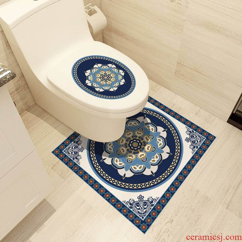 Toilet bowl becomes adhesive waterproof bathroom tiles decorated Toilet closestool inside wall stick stickers creative ground