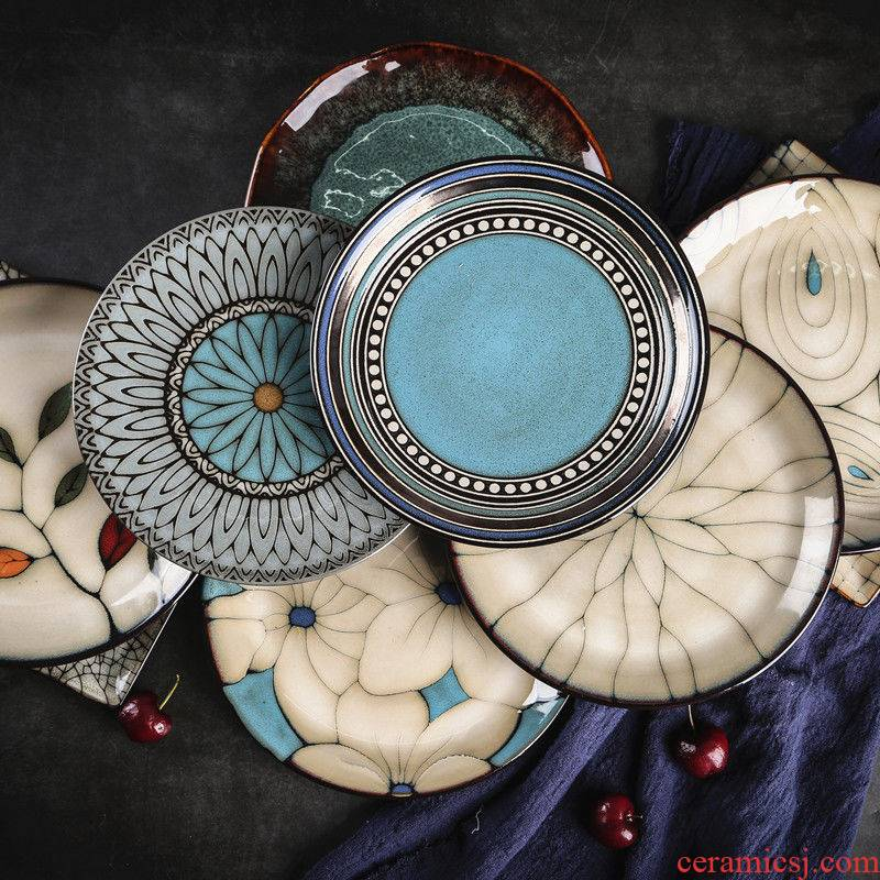"""8 """"creative hand - made ceramic tableware western pasta dishes FanPan restaurants with deep dish plate disc plate of flat"""