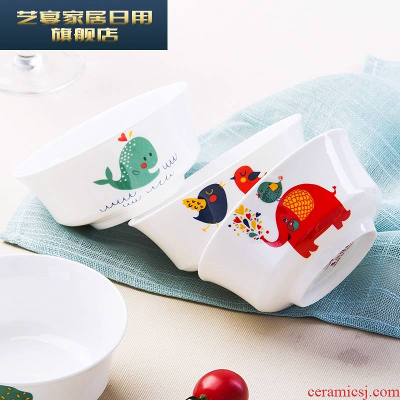 1 hj dishes suit jingdezhen ceramic ipads, lovely home tableware suit Japanese dishes creative small animals