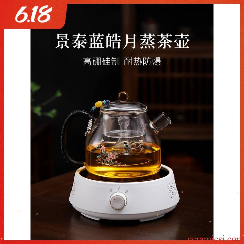 Cooking pot large glass tea kettle household electrical TaoLu boiled tea thickening high temperature resistant