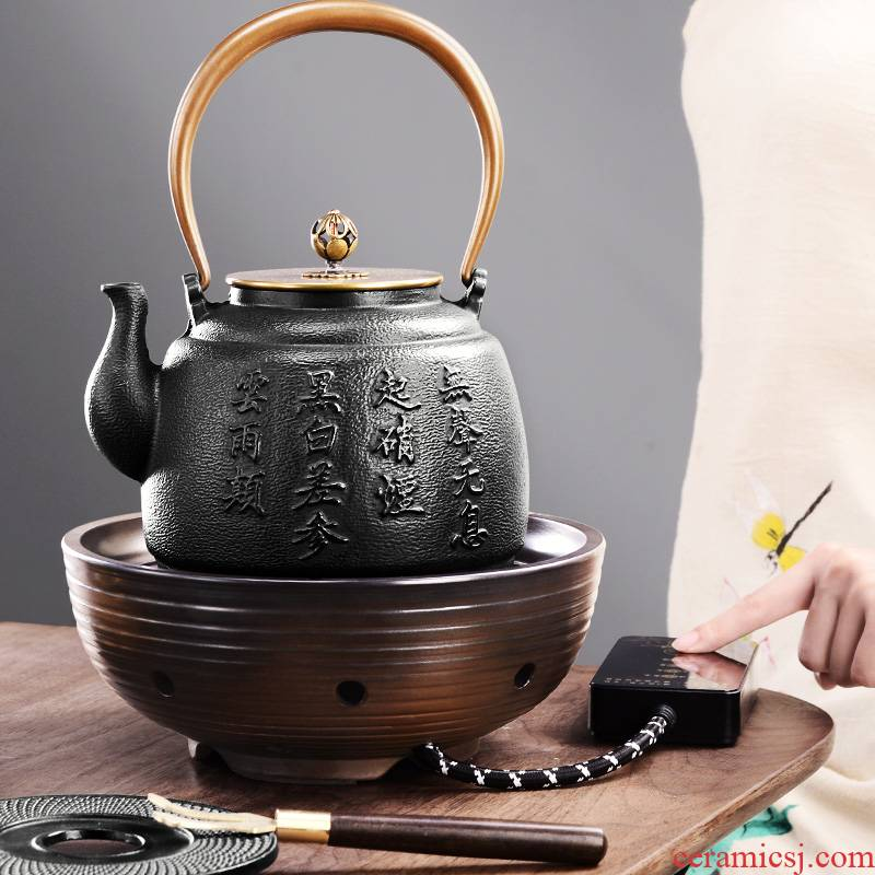 It still fang electric iron pot TaoLu household utensils suit imitated Japanese old pig iron pot of cast iron pot pot of fork by hand