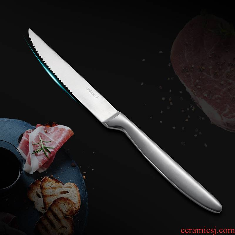 Onlycook household stainless steel steak knife western food knife a single western tableware main professional steak knife