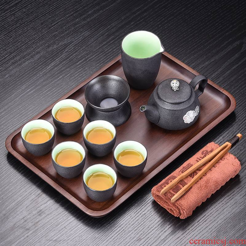 Japanese elder brother up with tea set household kung fu tea set to restore ancient ways of a complete set of contracted bamboo tea tray tea pot of a complete set of accessories