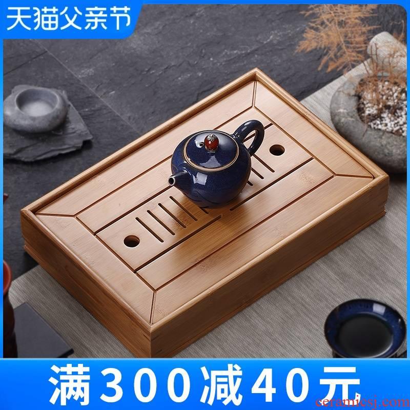 I and contracted mini small water household bamboo tea tray tray was creative bamboo kung fu tea tea table dry mercifully
