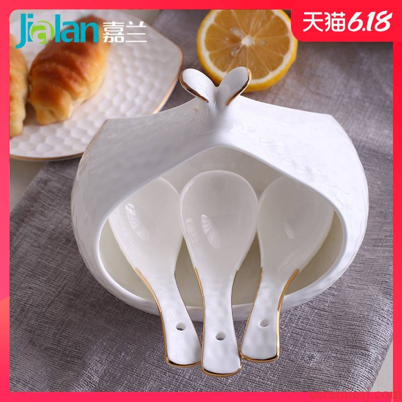 Garland ipads China relief spoon ladle size household spoon, small white up phnom penh is optional